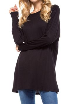 Black Basic Tunic Top - Sm to Lg 12 Days Till Christmas Specials * 20% off all Clothing * Name Brands 15% off * Bath Products 10% off   Both Statesville & Mooresville open 10-7!