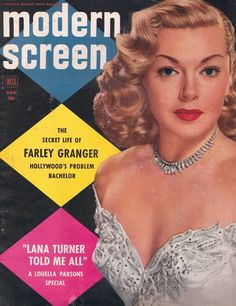 Lana Turner on the cover of Modern Screen