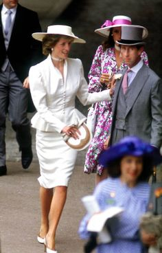 1986-06-17 Diana and Charles at Royal Ascot