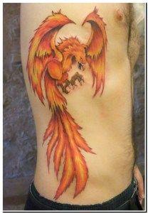 Tatuagem Fênix 3D 3