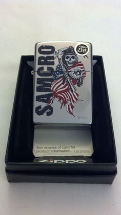 Zippo Lighter Sons Of Anarchy Street Chrome #AD301 New In Box Sealed