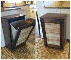 The Best DIY Wood Pallet Ideas - Fun Finds Friday! - Kitchen Fun With My 3 Sons DIY Pallet Trash Cabinet and many other pallet ideas Diy Wood Pallet, Pallet Crafts, Diy Pallet Projects, Wooden Pallets, Pallet Ideas, Wood Projects, Woodworking Projects, Teds Woodworking, Pallet Patio