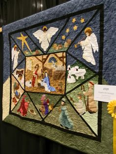 Nativity Scene Floating on a Quilted Cloud
