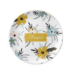 Gzhel estatuilla de porcelana rusa gato gordo 0139 0140 spring flower pattern modern design easter gift porcelain plates with personalized text name negle Gallery