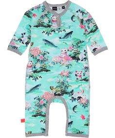 Molo fun cat printed babysuit. molo.en.emilea.be