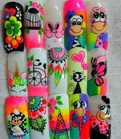 Uñas One Stroke Nails, Natural Nail Designs, Animal Nail Art, Easter Nails, Flower Nails, Nail Arts, Natural Nails, Nail Art Designs, Nails Design