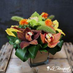 Vase Arrangements, Centerpieces, Curly Willow, Wax Flowers, Cymbidium Orchids, Floral Design, Seasons, Mini, Plants