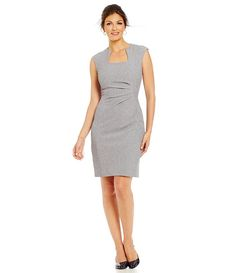 ee1d2b938c1b Grey Chambray dress  office chic  work wear style  business professional  fashion   desk to dinner