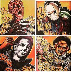Freddy, Jason, Michael and Leatherface