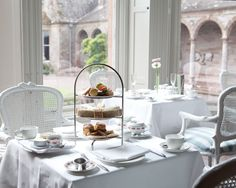 Experience out-of-this-world luxury at Castle Leslie Estate in Co. Monaghan, one of the finest luxury castle estates in Ireland. Book your luxurious castle accommodation today! Castle Restaurant, Blue Books, 5 Star Hotels, Afternoon Tea, Table Settings, Country, Luxury, House, Teas