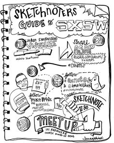 SXSW2013。来年とか行ってみたいなぁ。。。The Sketchnoter's Guide to SXSW 2013