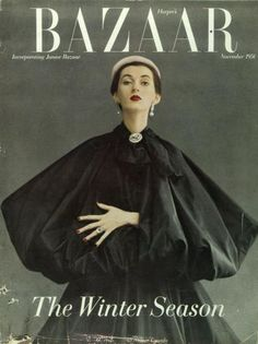"Alexey Brodovitch's cover for ""Harper's Bazaar"". November, 1950. 24.5 x 32.5 cm"