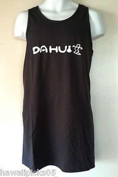 Da Hui Hawaiian Surf Charcoal Gray Tank Top Singlet