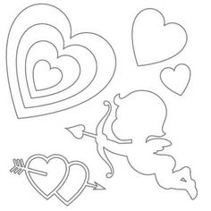 Stencils Printable Free stencils printable valentine cupid , Stencils Printable Free for your great ideas, fun projects and crafts. Includes inspiration and motivation to create art with free stencils to print. Valentine Cupid, Saint Valentine, Valentine Day Cards, Valentine Crafts, Valentines, Stencils For Kids, Free Stencils, Valentine Template, Printable Valentine