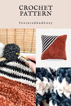 Cushion Cover Pattern, Crochet Cushion Cover, Crochet Cushions, Modern Crochet, Crochet Home, Crochet Patterns For Beginners, Crochet Ideas, Yarn Projects, Crochet Projects