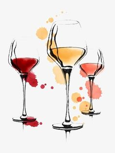 Wine Painting, Painting & Drawing, Watercolor Cards, Watercolor Paintings, Watercolours, Wine Glass Drawing, Art Du Vin, Art Sketches, Art Drawings