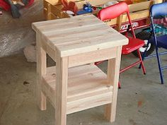 2X4 End table - just the picture