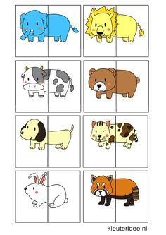 Dierenspel voor kleuters, kleuteridee , animal match for preschool, free… Animal Activities, Preschool Learning Activities, Preschool Worksheets, Infant Activities, Preschool Activities, Kids Learning, Activities For Kids, Animal Puzzle, Kids Education