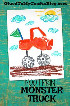 Footprint Monster Truck - Kid Craft Keepsake