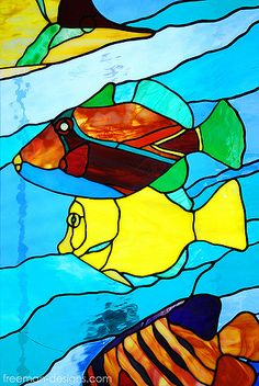 stained glass ocean | stained glass fish | Flickr - Photo Sharing!