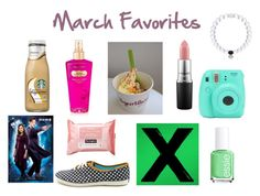 """My March Favs, these are awesome things to try if u want! "" by kari-luvs-u-2 ❤ liked on Polyvore featuring art"