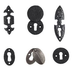 Arrow Top Brass Escutcheon Key Hole Key Hole Cover in Five Finishes
