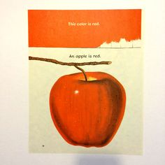 Apple is Red / Noisy Bluejays Vintage Print by EstrangedEphemera, $7.00