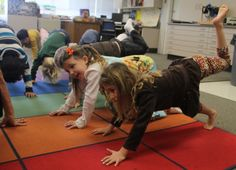 Pennekamp Elementary School's Developmental Kindergarten start yoga classes