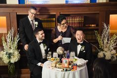 """I heard a lot of the same thing on Justin and Chris' Providence Public Library wedding day: """"Justin and Chris make each other better people"""". Wedding Looks, Wedding Day, Library Wedding, Public Display, Wedding Album, My Favorite Part, Wedding Images, Big Day, First Time"""