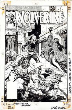 the cover to Wolverine (1988) #4 by John Buscema and Al Williamson
