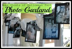The V Spot: How to make an easy Halloween photo garland