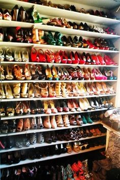 A Shoe Paradise, every girls dream.