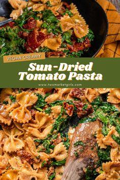 Tasty Vegetarian Recipes, Vegan Dinner Recipes, Veggie Recipes, Healthy Recipes, Cooking Recipes, Easy Vegan Dishes, Recipes With Kale, Clean Eating Dinner Recipes, Easy Vegan Meals