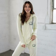 Pale Mint Zip Up Embroidered Hoodie