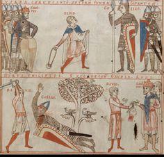 c 1180. Psalmenkommentar mit Bilderzyklus zum Leben Davids - Staatsbibliothek Bamberg Msc.Bibl.59