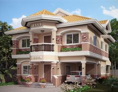 Selecting Your 2 Story House Plans With Master on Second Floor - Room Sizes Two Story House Design, 2 Storey House Design, House Front Design, Modern House Design, Luxury House Plans, Dream House Plans, Modern House Plans, House Floor Plans, Dream Home Design