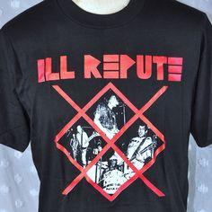 Vintage Ill ill Repute 80s Hardcore Punk Large T-Shirt New Deadstock Nardcore