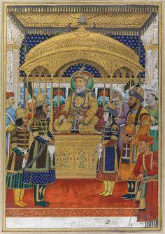 A Portrait of Bahadur Shah and his Court, India, Delhi, Circa 1820   lot   Sotheby's