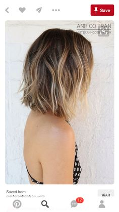 Balayage Hair Color Ideas for Shoulder Length Hair. After the hot ombre hairstyles, more and more people trying the balayage,Balayage hairstyles and trends for dark . Medium Hair Styles, Short Hair Styles, Hair Medium, Medium Long, Hair Color And Cut, Hair Colour, Hairstyles Haircuts, Bob Haircuts, Straight Hairstyles