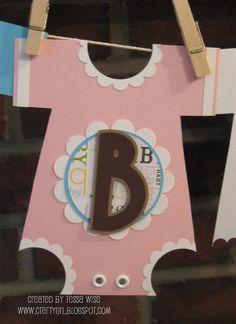 baby onesie banner baby shower idea