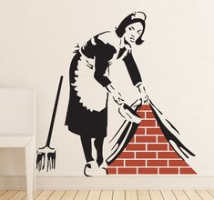 A wall art decal of the art piece made by the mysterious artist, #Banksy. A lovely #design from our collection of Banksy #wallstickers!