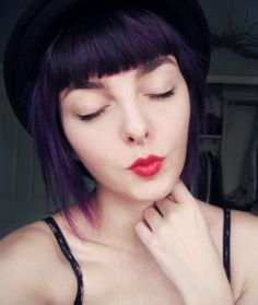 Dark purple Hair. Seriously want this color