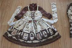 (Replica)musee du Replica Chocolate Lolita One Piece Dress