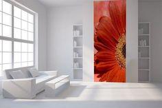 Papier peint lé unique Fleur rouge