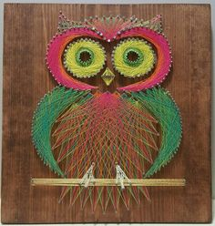 Owl String Art by BoatMade on Etsy