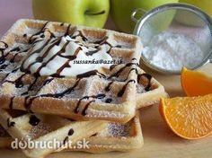 Najlepšie wafle Fast Dinners, Breakfast For Kids, French Toast, Sweet Tooth, Sweet Treats, Food And Drink, Menu, Cooking Recipes, Sweets