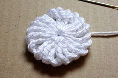 Crocheted Yo-Yo Puff - I made a baby blanket out of these and it was pretty darn cute.