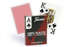 Cartes Fournier 2800 Poker Jumbo (rouge) - Pokeo.fr - Jeu de 55 cartes 100% plastique Fournier 2800, dos rouge.