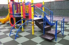 Jamboree Playground Tiles in our Designer Series offer an upscale playground rubber surface that is safe and colorful. Outdoor Rubber Tiles, Outdoor Tiles, Outdoor Flooring, Playground Flooring, Backyard Playground, Playground Ideas, Interlocking Flooring, Rubber Flooring, Flooring Tiles