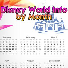 Disney World varies a lot by month in terms of crowds, temperatures and special events so today, I've got info about every month of the year to help you decide when to go. I also have a quick tip on the best source for accurate info from Disney. Disney World 2015, Walt Disney World Vacations, Disney Parks, Disney Travel, Disney 2015, Family Vacations, Disney World Tips And Tricks, Disney Tips, Disney Love